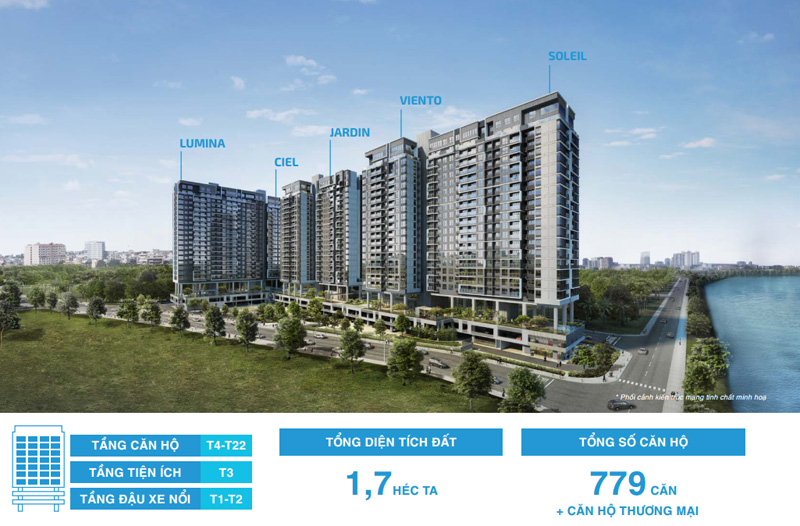 Tổng thể dự án căn hộ One Verandah